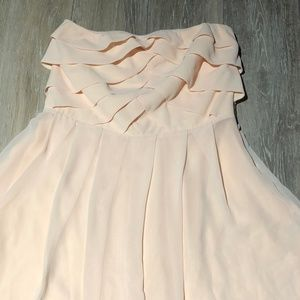 EXPRESS Women's peach ruffled top dress size 4 NWT